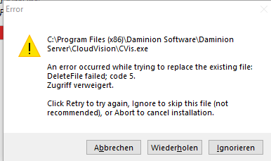 Daminioon 1620 Install error CVis 2019-07-29 180449.png
